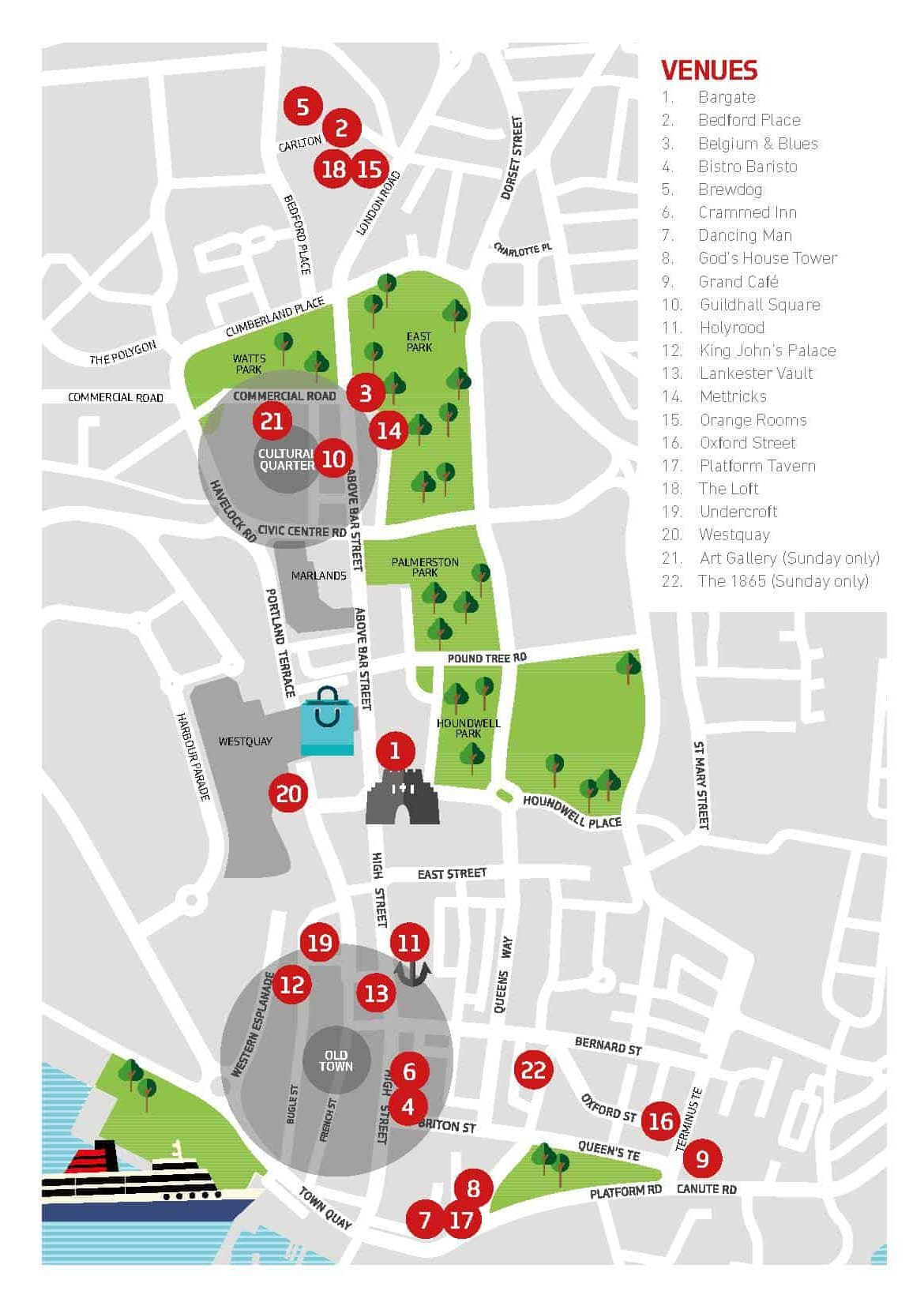 click to see our venue map