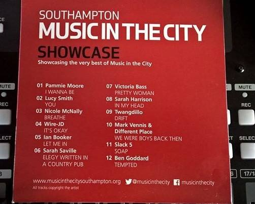 Music in the City 2016 CD back cover